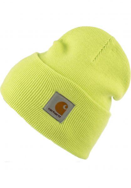 Carhartt WIP Mützen Acrylic Watch Hat lime vorderansicht 0570844