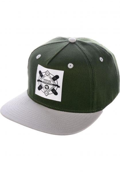 TITUS Caps Emblem Snapback olive-grey vorderansicht 0564855