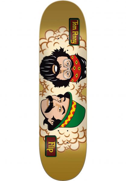 Flip Skateboard Decks Penny Cheech and Chong 50th brown vorderansicht 0266524