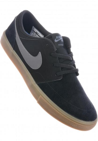 1efec72f006 Nike SB Alle Schuhe Solarsoft Portmore II black-darkgrey-gum Vorderansicht