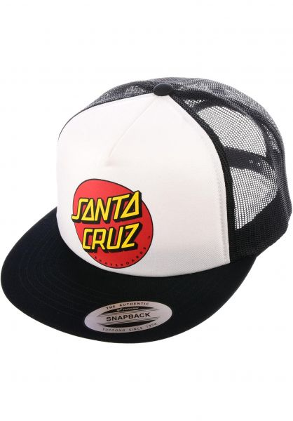 Santa-Cruz Caps Classic Dot Mesh white-black Vorderansicht
