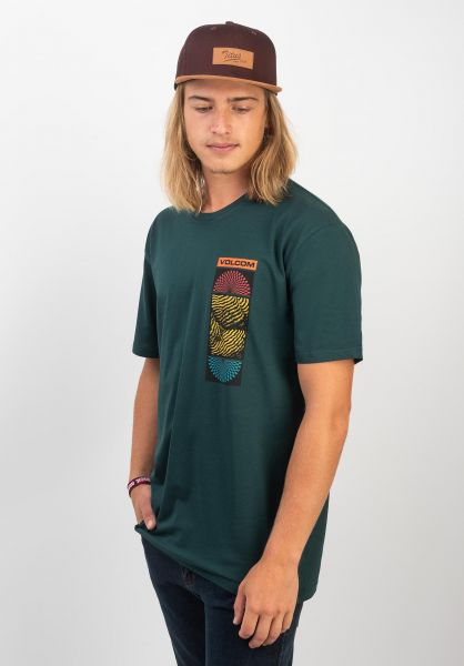 Volcom T-Shirts Optional evergreen vorderansicht 0320365