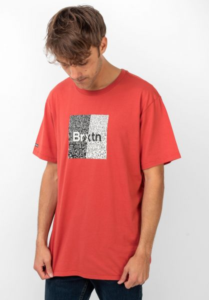 Brixton T-Shirts Crowd Art coral vorderansicht 0321453