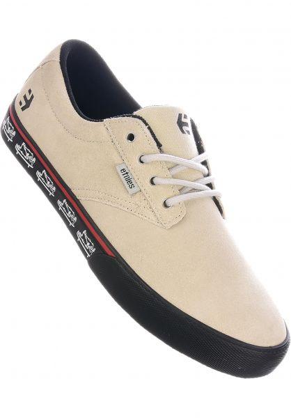 etnies Alle Schuhe Jameson Vulc white-black-print vorderansicht 0603802