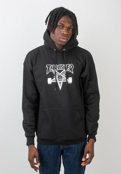 Thrasher Hoodies Skate Goat black vorderansicht 0044023