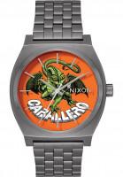 Nixon Uhren Time Teller x Bones Brigade gunmetal-caballero Vorderansicht