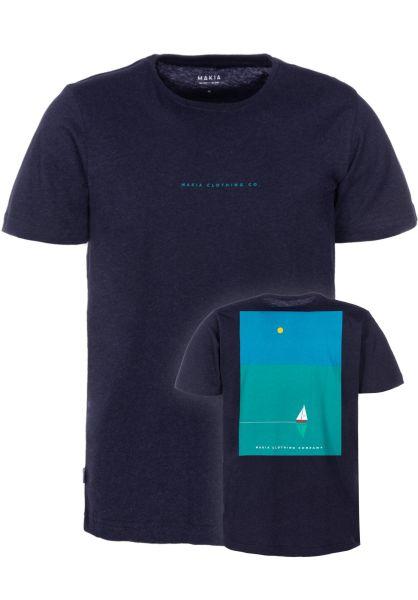 Makia T-Shirts Vista navy vorderansicht 0383346