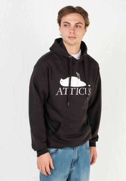 Atticus Hoodies Brand Logo black vorderansicht 0445997