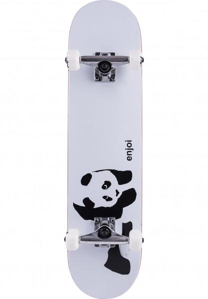Enjoi Skateboard komplett Whitey Panda white Vorderansicht