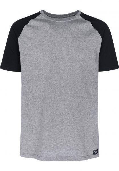 TITUS T-Shirts Alec greymottled-black Vorderansicht