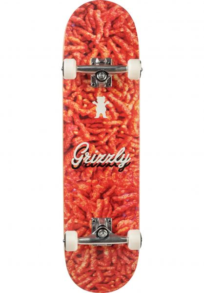 Grizzly Skateboard komplett Flaming Hot orange vorderansicht 0162085