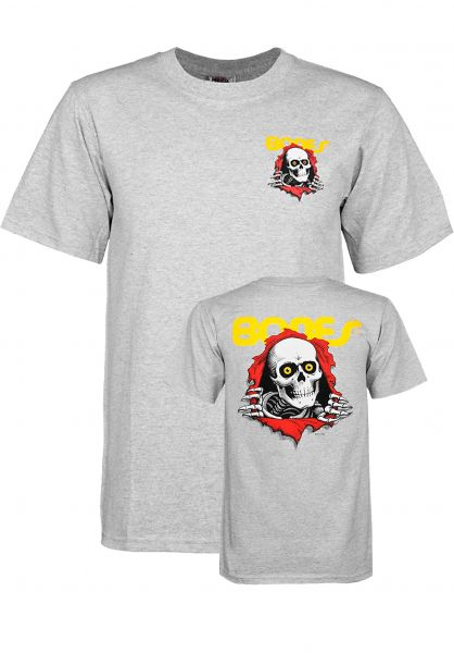 Powell-Peralta T-Shirts Ripper Kids grey Vorderansicht