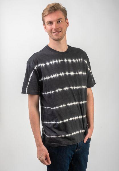RVCA T-Shirts Rail Stripe black vorderansicht 0320621