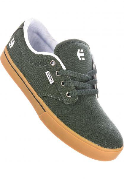 etnies Alle Schuhe Jameson 2 Eco green-white-gum vorderansicht 0602360