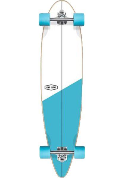 Long Island Longboards komplett Cross Essential 39´´ Pin white-blue vorderansicht 0194330