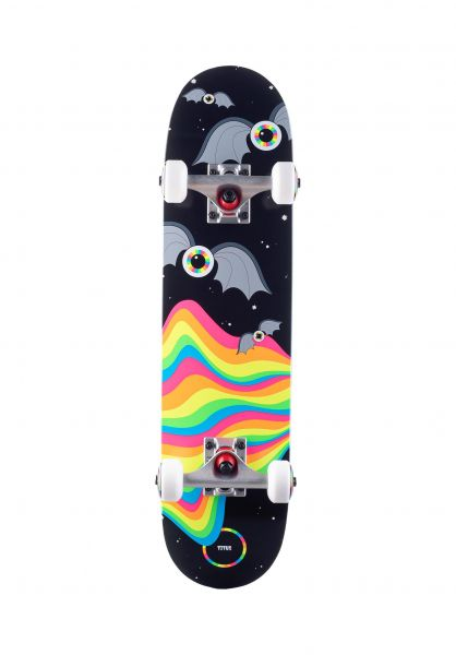 TITUS Skateboard komplett Foam Eyeball Bat Micro Kids black-multi vorderansicht 0162359