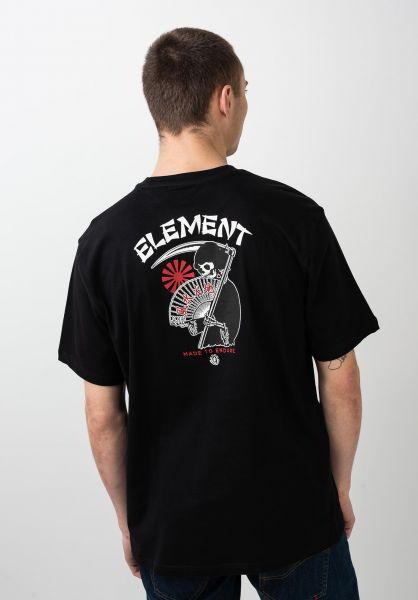 Element T-Shirts Fumiko flintblack vorderansicht 0320710