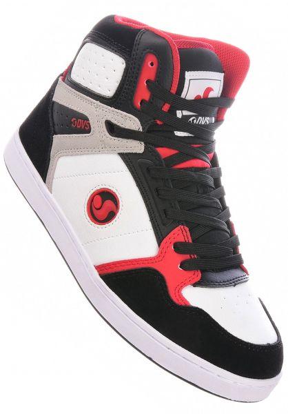 DVS Alle Schuhe Honcho white-black-red vorderansicht 0605018