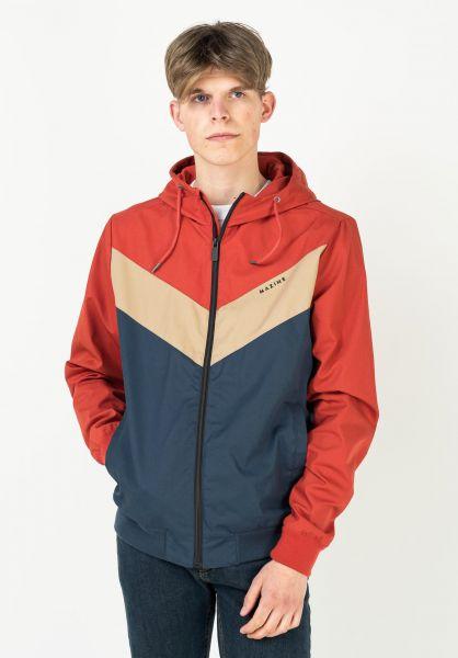 Mazine Übergangsjacken Duns Light Jacket red-navy vorderansicht 0504598