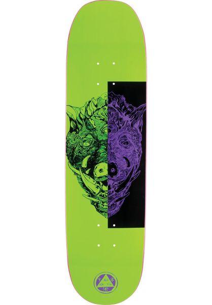 Welcome Skateboard Decks Hog Wild Moontrimmer 2.0 neongreen vorderansicht 0261064