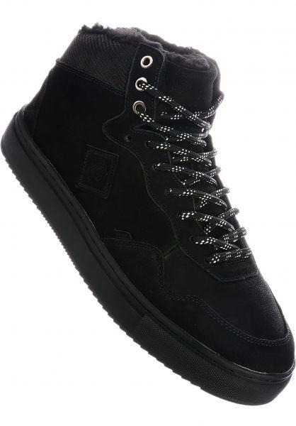 Djinns Alle Schuhe Highwaik Fur black-black-white vorderansicht 0604493