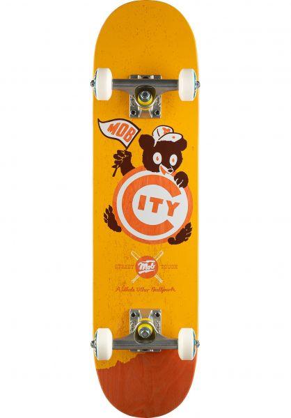 MOB-Skateboards Skateboard komplett Ballpark Mini yellow vorderansicht 0162631