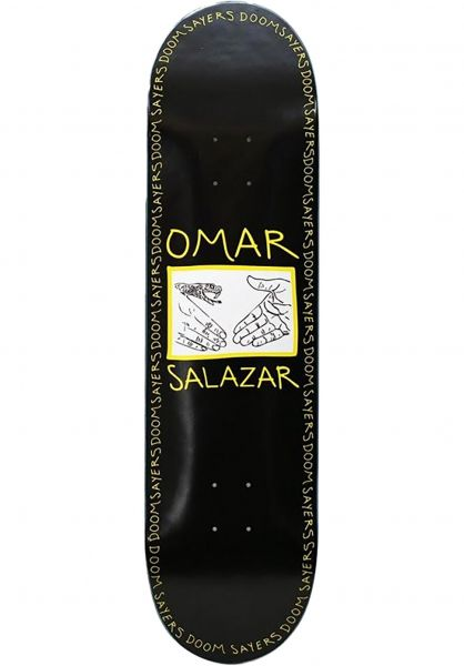 Doomsayers Skateboard Decks Omar Snake Shake black-yellow vorderansicht 0266416