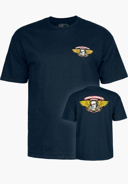 Powell-Peralta T-Shirts Winged Ripper navy vorderansicht 0360934