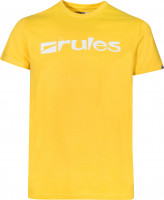 Rules T-Shirts Basic yellow-white Vorderansicht