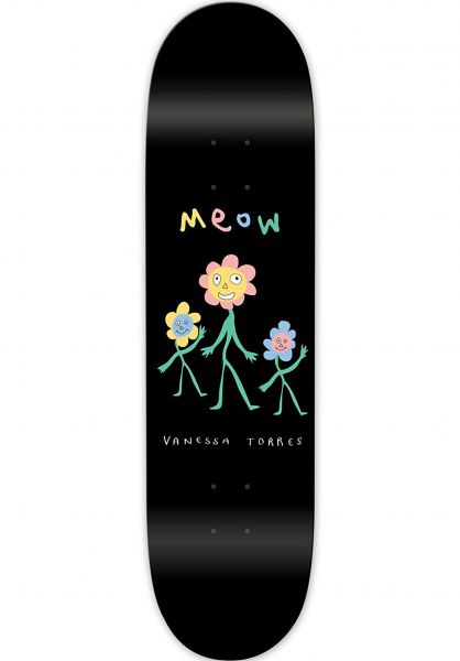 Meow Skateboards Skateboard Decks Torres Flower Party black vorderansicht 0261802