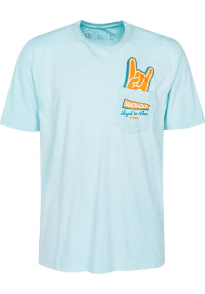 Neff T-Shirts Peak Pocket mint vorderansicht 0399424