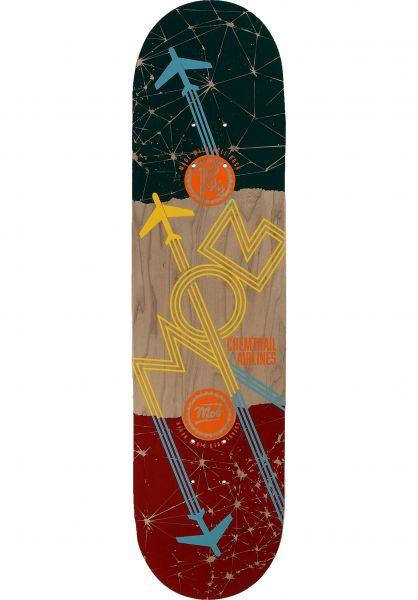 MOB-Skateboards Skateboard Decks Airlines natural-yellow vorderansicht 0266046