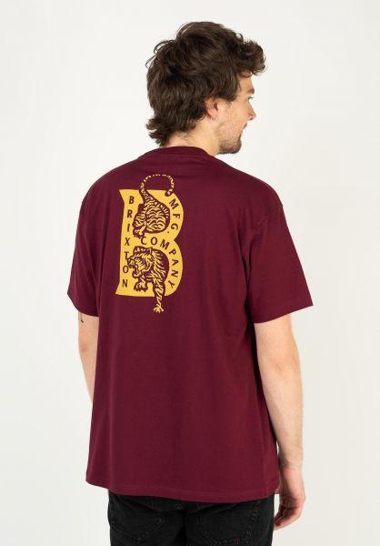 Brixton T-Shirts Crawler burgundy vorderansicht 0323999