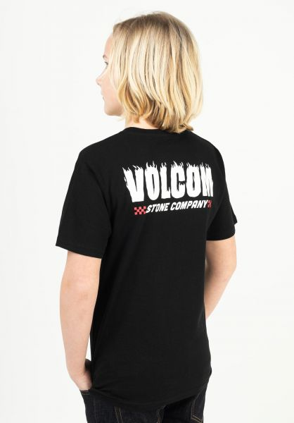 Volcom T-Shirts Company Stone BSC Kids black vorderansicht 0323543