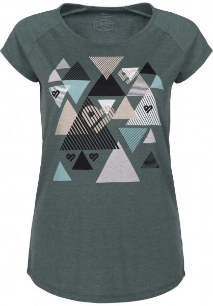 TITUS T-Shirts Triangle petrolmottled Vorderansicht