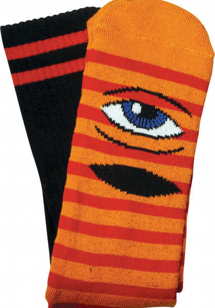 Toy-Machine Socken Sect Eye Stripe orange-red Vorderansicht