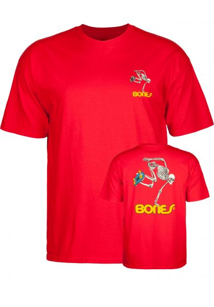 Powell-Peralta T-Shirts Skateboard Skeleton red Vorderansicht
