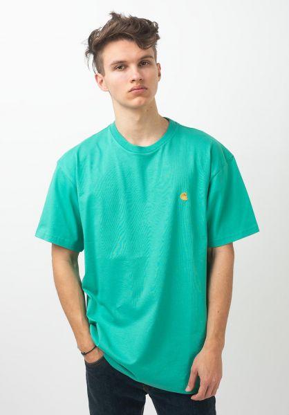 Carhartt WIP T-Shirts Chase yoda-gold vorderansicht 0396618