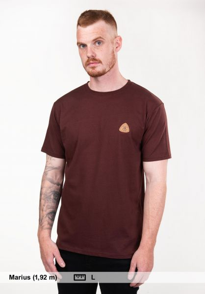 TITUS T-Shirts Claudio deepburgundy unteransicht 0397370