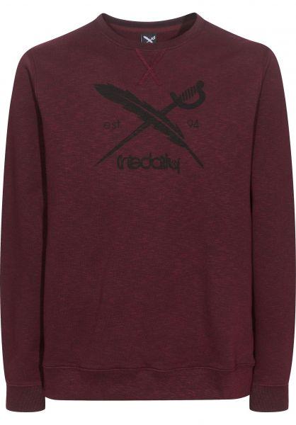 iriedaily Sweatshirts und Pullover Slub Logo Crew maroonmelange Vorderansicht