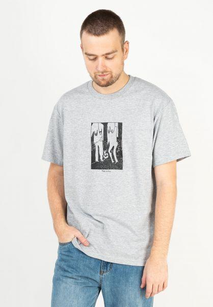 Karaoke Skateboarding T-Shirts Duet greasygrey vorderansicht 0323241
