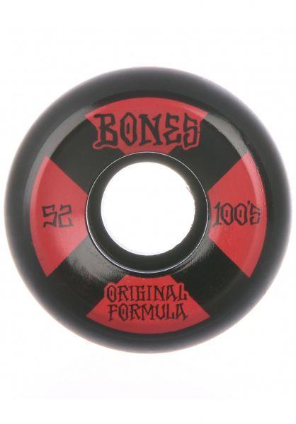 Bones Wheels Rollen 100´s OG #4 V5 Sidecut 100A black-red vorderansicht 0135063
