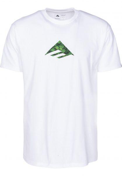 Emerica T-Shirts Triangle white-green vorderansicht 0396176