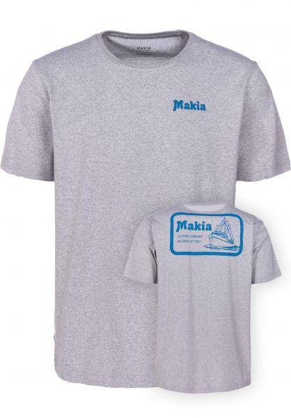 Makia T-Shirts Fast lightgrey vorderansicht 0383349