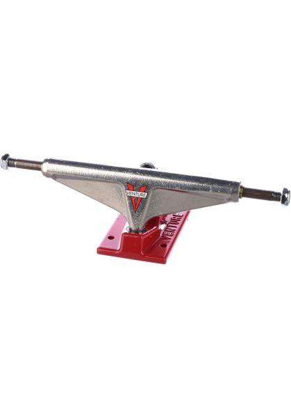Venture Achsen 5.8 High OG V silverpolished-red vorderansicht 0122418