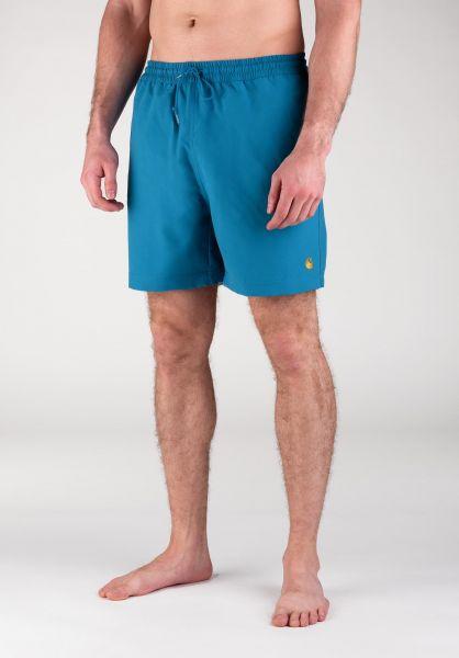 Carhartt WIP Beachwear Chase Swim Trunk pizol-gold vorderansicht 0205282