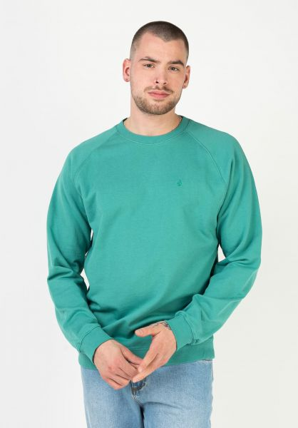 Volcom Sweatshirts und Pullover Freeleven Crew Fleece synergygreen vorderansicht 0423154