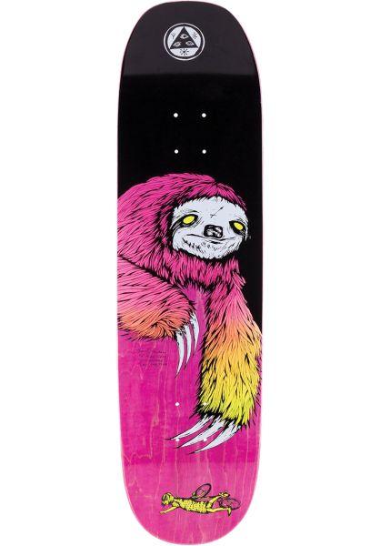 Welcome Skateboard Decks Sloth Moontrimmer 2.0 black-surf fade vorderansicht 0262792
