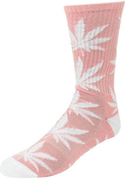 HUF Socken Plantlife Crew Sock coralpink vorderansicht 0630394