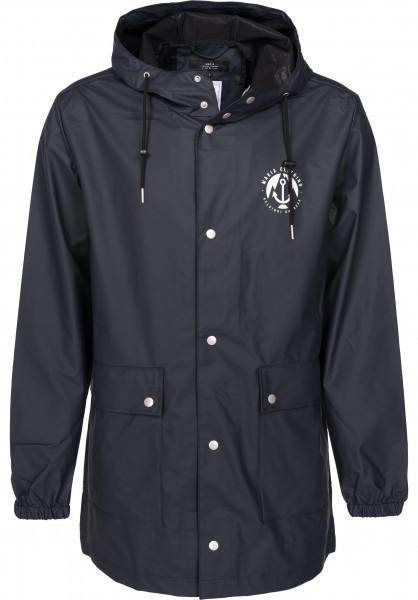 Makia Übergangsjacken Harbour Rain Jacket navy Vorderansicht